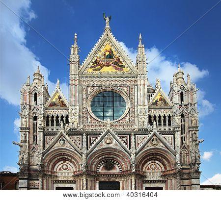 Facade Of Siena Dome
