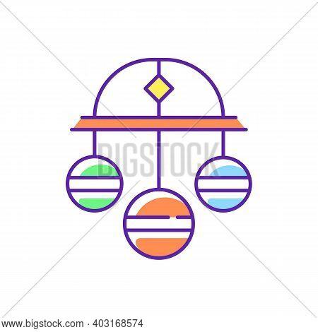 Pawn Symbol Rgb Color Icon. Three Spheres Suspended From Bar. Monetary Success Symbol. Pawnbrokers S