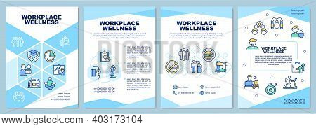 Workplace Wellness Brochure Template. Health Promotion Activity. Flyer, Booklet, Leaflet Print, Cove