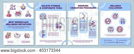 Best Workplace Wellness Initiatives Brochure Template. Health Programs. Flyer, Booklet, Leaflet Prin