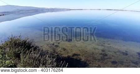 Orbetello, A Well-known Town In The Maremma, Overlooks The Two Lagoons, This Is The One To The West.