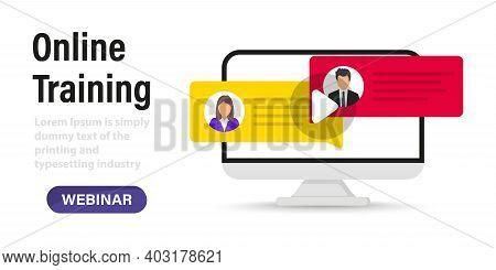 Live Webinar. Distance Conference. Live Streaming. Online Technology Distance Communication. Study E