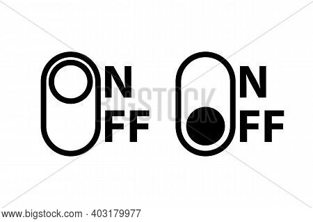 On And Off Toggle Switch Buttons. On And Off Toggle, For Modern Devices User Interface Or Template.