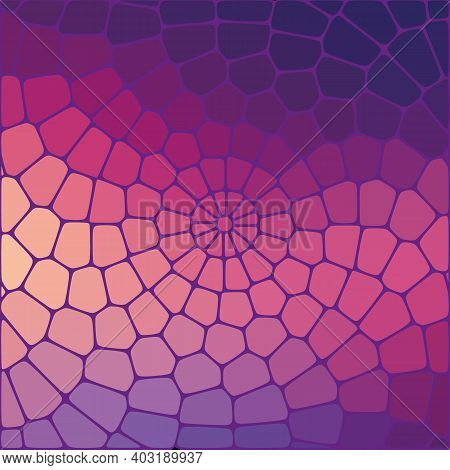 Geometric Abstract Background Bright Pink Lilac Stones, Brochure Template Design Element, Poster