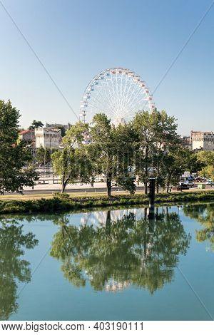 Avignon City With Avignon Eye In Provence, France