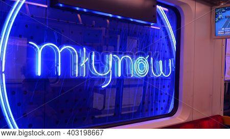 Warsaw, Poland. 13 January 2021. Warsaw Metro Station Interior Warsaw Mlynow.