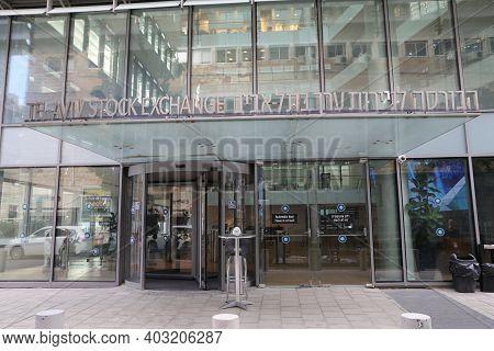 Tel Aviv, Israel - November 23, 2020 : Tel Aviv Stock Exchange Building In Tel Aviv, Israel.