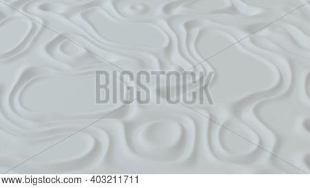 Abstract Minimalistic Background With White Noise Wave Field. Detailed Displaced Surface. Modern Bac