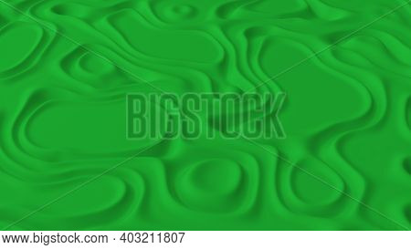 Abstract Minimalistic Background With Green Noise Wave Field. Detailed Displaced Surface. Modern Bac