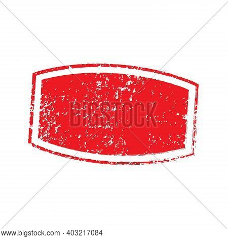 Distress Stamp Red Color. Rectangle Grunge Stamp. Grunge Texture. Distressed Element. Vector Distres