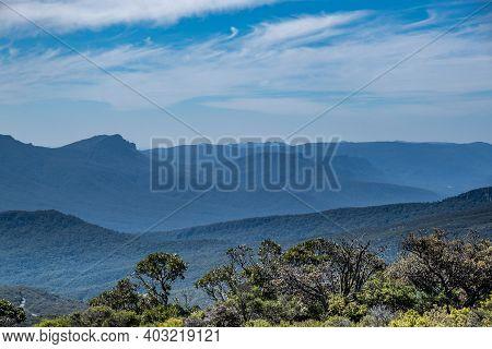 Layers Of Rugged Hills In Grampians, Victoria, Australia