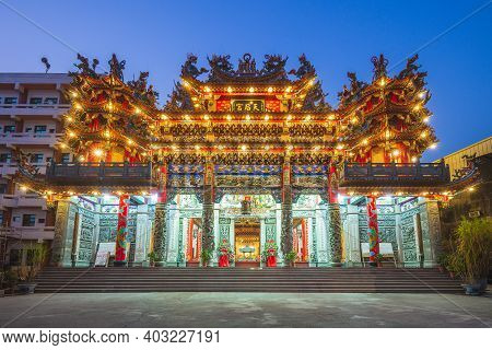 January 12, 2021: Huwei Tianhou Temple, Aka Yu Er Ma Temple, Located At Huwei Township, Yunlin Count