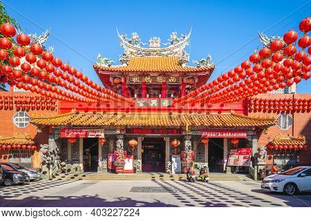 January 13, 2021: Fuxing Temple, A Temple At Xiluo, Yunlin, Taiwan, Was Built In 1723 To Enshrine Th