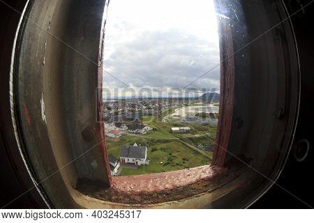 Vesteralen Islands / Norway - August 31, 2017: The Andenes Lighthouse Inside, Vesteralen, Vesterålen
