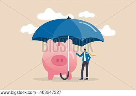 Insurance And Finance Saving Protection In Economy Crisis, Safety Investment Or All Weather Portfoli