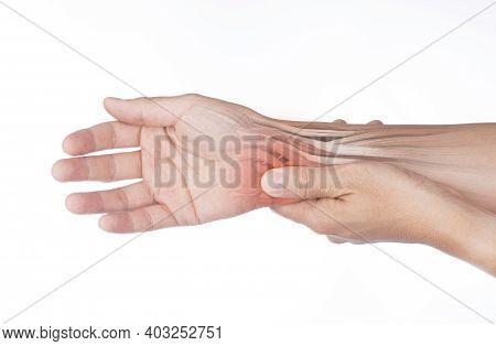 Wrist Muscle Pain White Background Wrist Injury