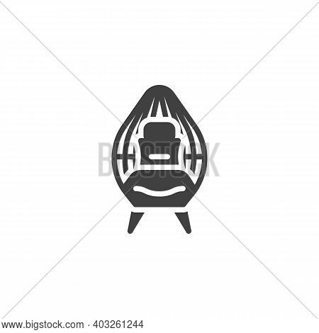 Wicker Chair Vector Icon. Filled Flat Sign For Mobile Concept And Web Design. Wicker Armchair Glyph
