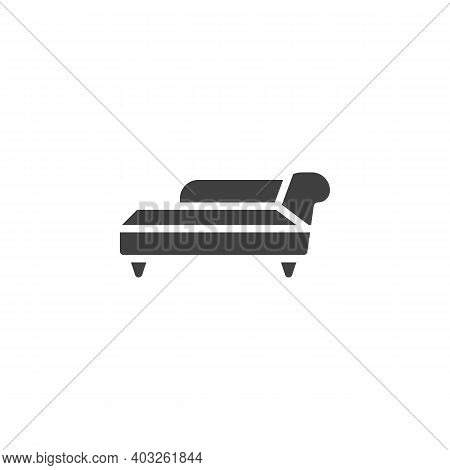 Chaise Lounge Vector Icon. Filled Flat Sign For Mobile Concept And Web Design. Sofa Furniture Glyph
