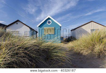 Blue & White Beach Huts