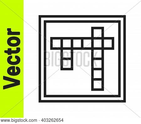 Black Line Bingo Icon Isolated On White Background. Lottery Tickets For American Bingo Game. Vector