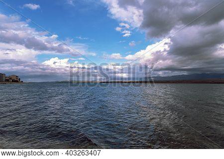 Beautiful Seascape. View Of The Island Of Pag. Vir, Croatia.