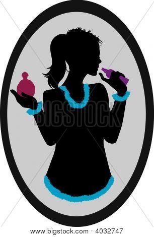 Girl And Perfume