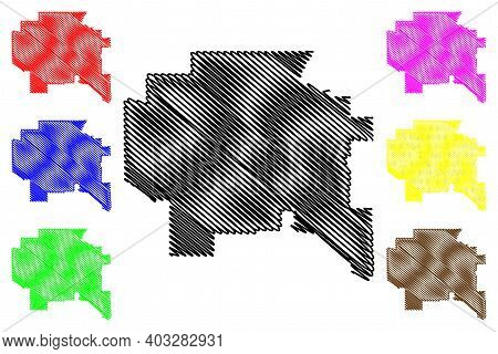 Cascade County, Montana (u.s. County, United States Of America, Usa, U.s., Us) Map Vector Illustrati