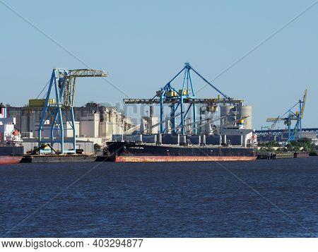 Image Of A Ship Docked At The Balzano Marine Terminal In Camden.