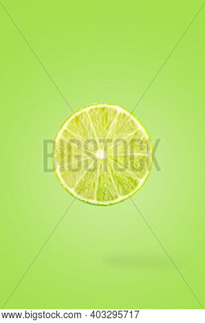 Creative Idea Layout With Fresh Fruits On Colored Background