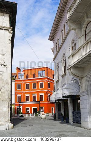 Architecture of Pula the largest city in Istria Croatia and popular tourist destination known for its Roman monuments
