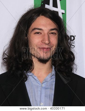 LOS ANGELES - OCT 22:  Ezra Miller arrives to Hollywood Film Awards Gala 2012  on October 22, 2012 in Beverly Hills, CA