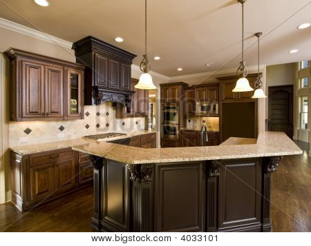 Luxury Diamond Tile Kitchen Left Side