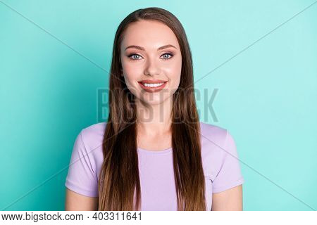 Close-up Portrait Of Her She Nice-looking Attractive Pretty Cute Cheerful Cheery Long-haired Girl We
