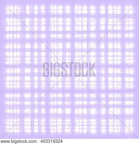Lavender White Lilac Violet Vintage Checkered Background With Blur, Gradient And Grunge Texture. Cla