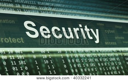 Security Concept. Technology Background