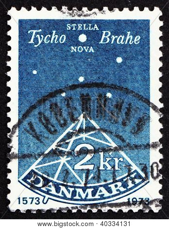 Postage stamp Denmark 1973 Sextant, Stella Nova, Tyho Brahe