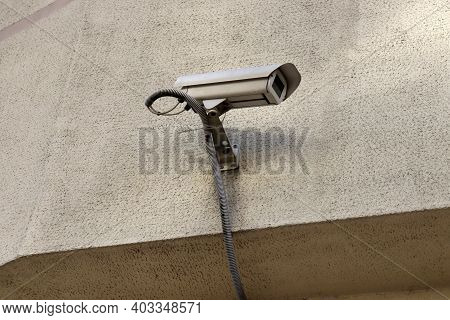 A Surveillance Camera Or A Surveillance System In An Office Building. Cctv Camera - Protection From