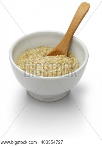 plain Scottish porridge in bowl