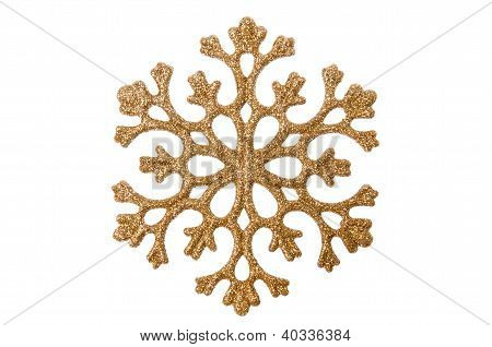 Christmas Golden Color Snowflake.