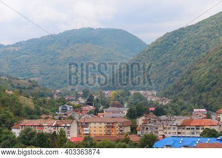 Baile Herculane Town Romania Cityscape Landscape Panorama