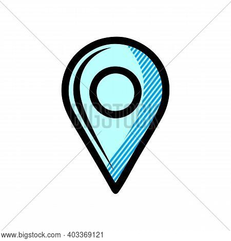 Location Icon Isolated On White Background. Location Icon In Trendy Design Style For Web Site And Mo