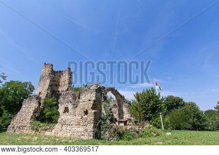 Abandoned Church Of The Manastir Savinac Monastery In Stari Ledinci, Near Novi Sad, In The Fruska Go