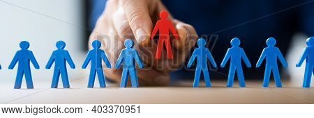 Staffing Candidate Selection Interview By Hand At Desk