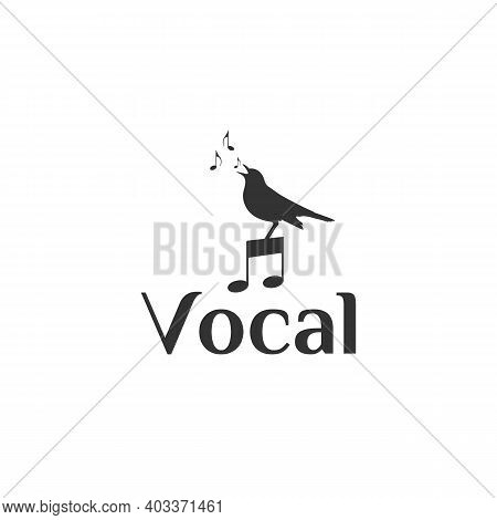 Singing Bird For Music Vocal Logo Design
