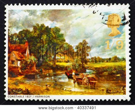 Postage stamp GB 1968 The Hay Wain, by John Constable