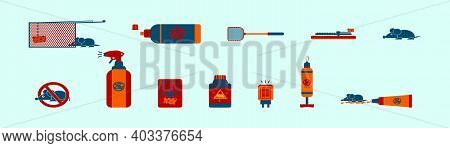 Set Of Exterminators Cartoon Icon Design Template With Various Models. Modern Vector Illustration Is