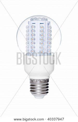 Led Lights Bulb Isolated Of White