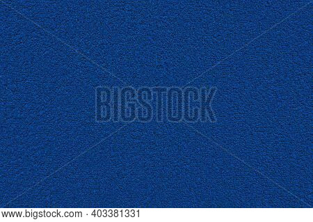 Blue Terry Towel Background. Texture Of Terry Cloth