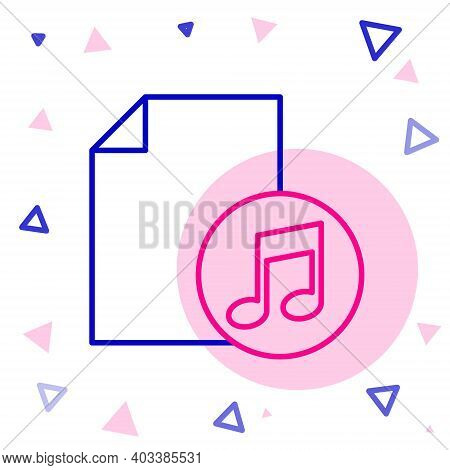 Line Music Book With Note Icon Isolated On White Background. Music Sheet With Note Stave. Notebook F