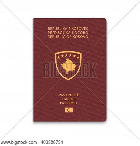 Passport Of Kosovo. Citizen Id Template. Vector Illustration